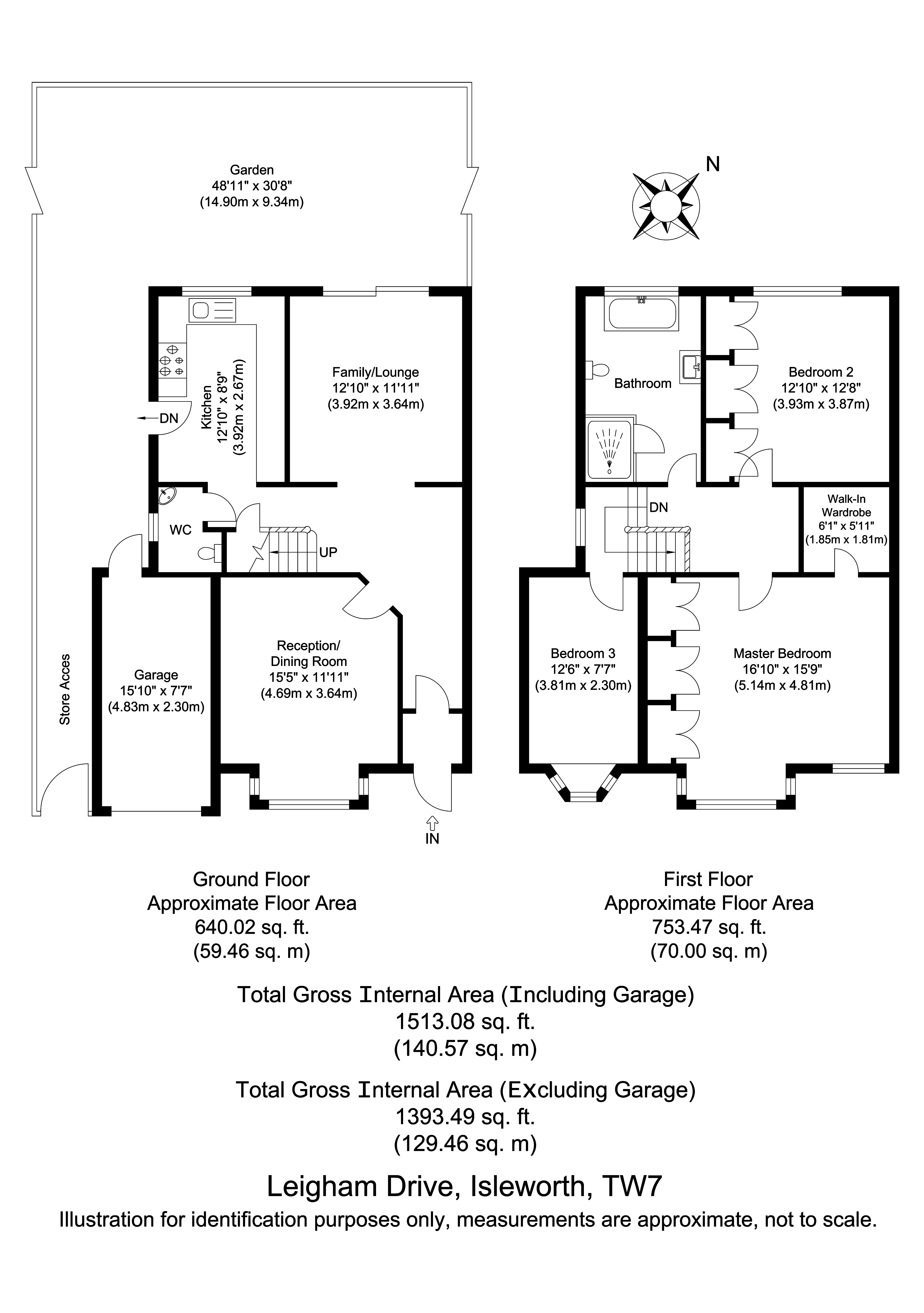 Floorplans For Leigham Drive, Osterley